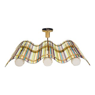 Angelo Lelli Wave-Shaped Pendant Fixture for Arredoluce