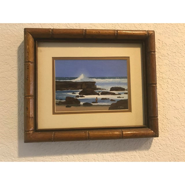 Original painting. Stunning artwork by famed Hawaiian artist Patrick Doell who specializes in Hawaiian landscapes. This...