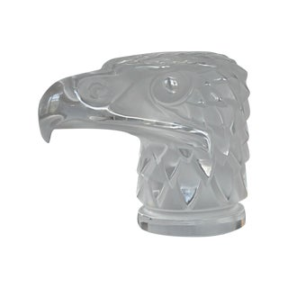 Lalique Eagle Head Car Mascot For Sale