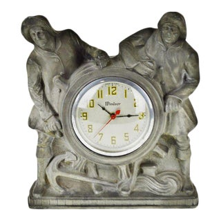 Art Deco Gibraltar Mantel Clock Nautical Mariner Theme For Sale