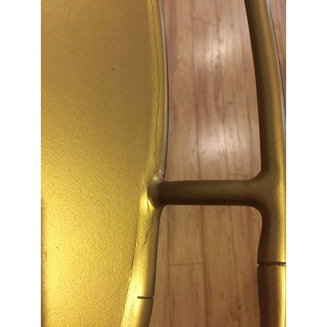 Hollywood Regency Gold Bar Cart - Image 5 of 6
