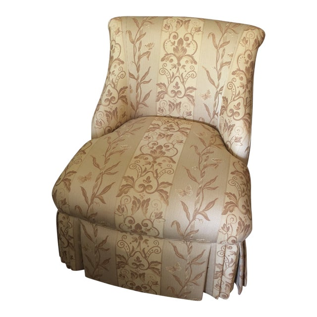Traditional Pearson Gold Slipper Chair For Sale
