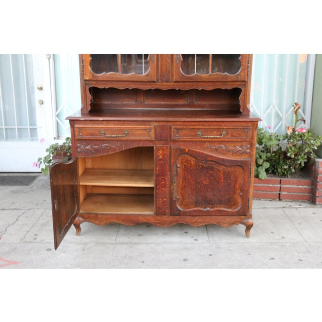 Antique Oak China Cabinet For Sale - Image 9 of 10 - Antique Oak China Cabinet Chairish