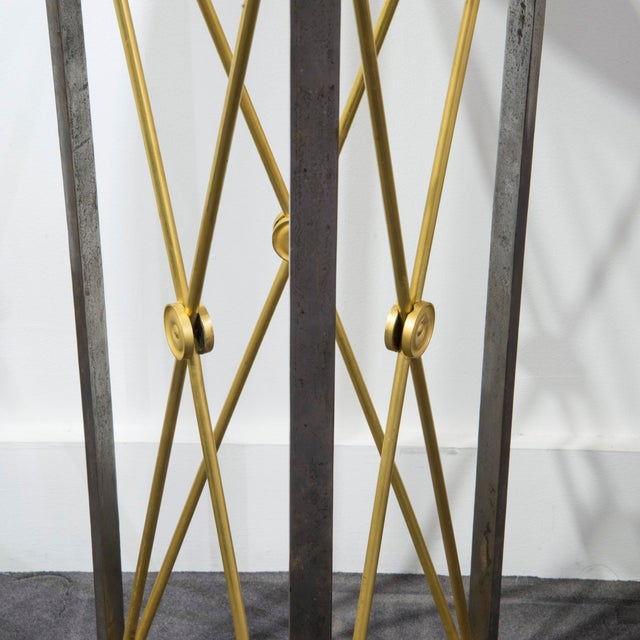 Empire Brass Stand in Empire Style by Maison Jansen - Circa 1960's For Sale - Image 3 of 5