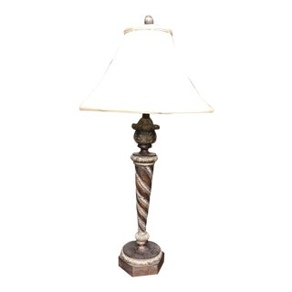 Tuscan Style Bronze Spiral Table Lamp For Sale