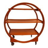 Image of Stunning English Art Deco Bar Cart For Sale