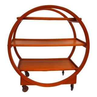 Stunning English Art Deco Bar Cart For Sale