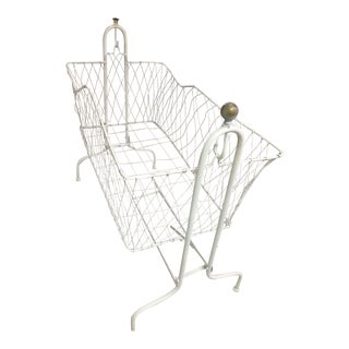 Antique Wire Baby Bassinet For Sale