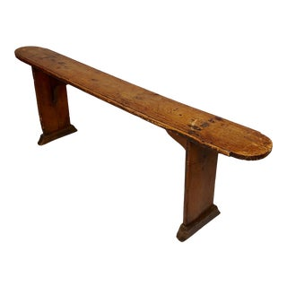 19th Century Rustic Farm Sitting Wood Bench For Sale