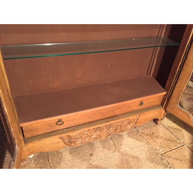 19th Century French Carved 2 Door Chicken Wire Vitrine For Sale - Image 9 of 12