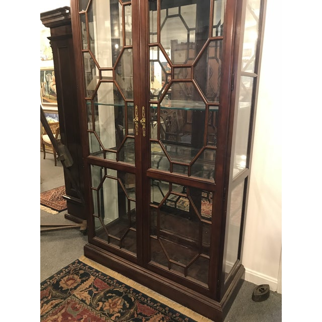 Traditional Mirror Back China Cabinet For Sale - Image 4 of 9