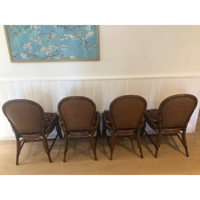 Americana 1980s Vintage Palecek Twisted Side Chair- Set of 4 For Sale - Image 3 of 13