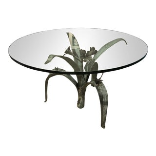 1960s French Bronze Dining Table For Sale