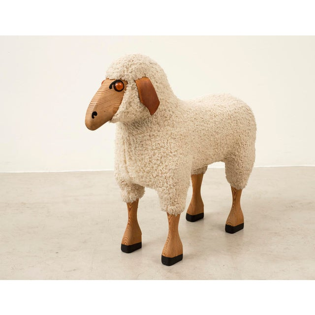Life-Sized Sheep in Sheepskin and Beech, Germany, 1970s For Sale - Image 13 of 13