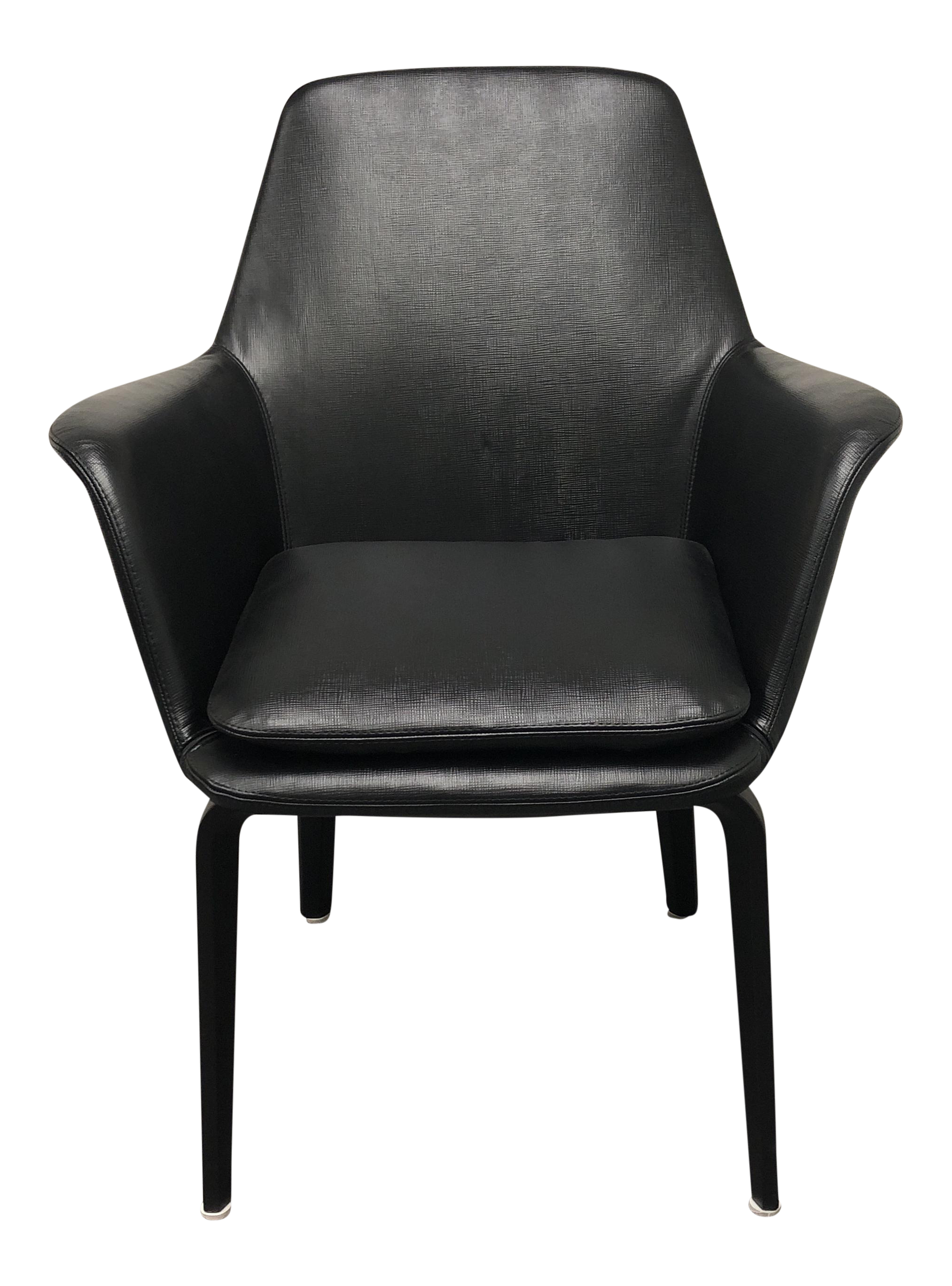 Minotti York Lounge Leather Chair For Sale