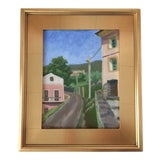 Image of Contemporary Corsica Series Landscape Framed Oil Painting For Sale