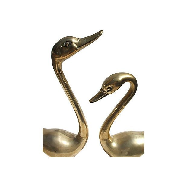 Brass Swan Family - Set of 4 - Image 2 of 6