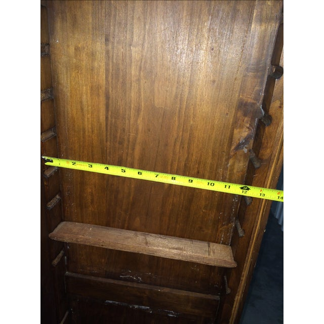 Antique Hand-Carved Italian Revival Armoire - Image 8 of 10