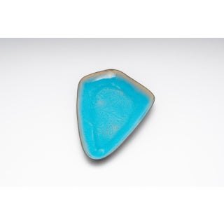 Boomerang Shaped Turquoise Enamel Serving Dish From Sweden Preview