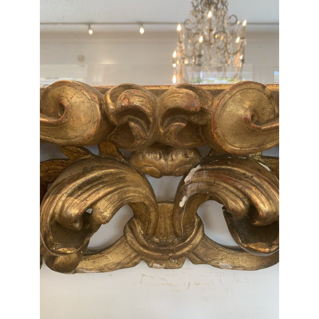 Italian Gold Gilded Mirror For Sale - Image 4 of 5