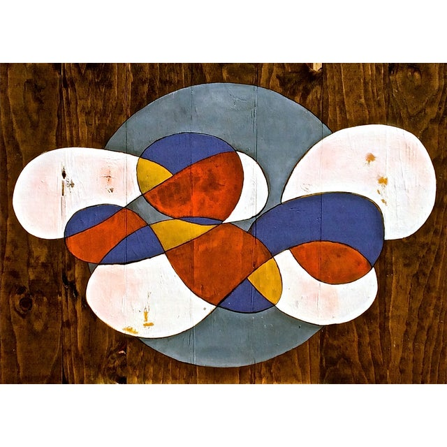 Contemporary Abstract Stained Wood - Image 1 of 3