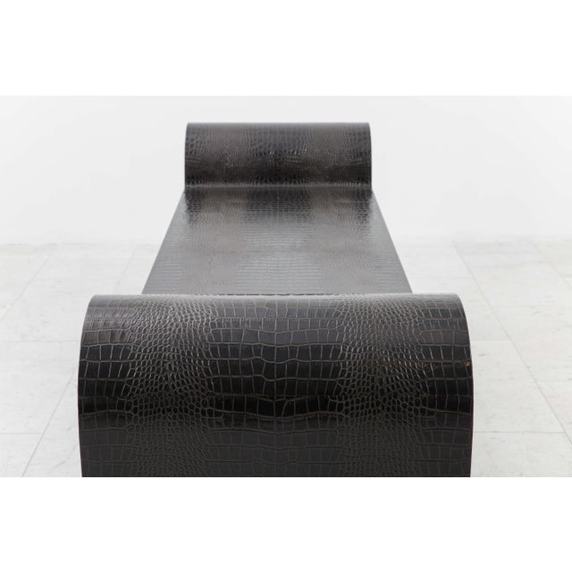 Animal Skin Sculpture Bench, Usa For Sale - Image 7 of 9