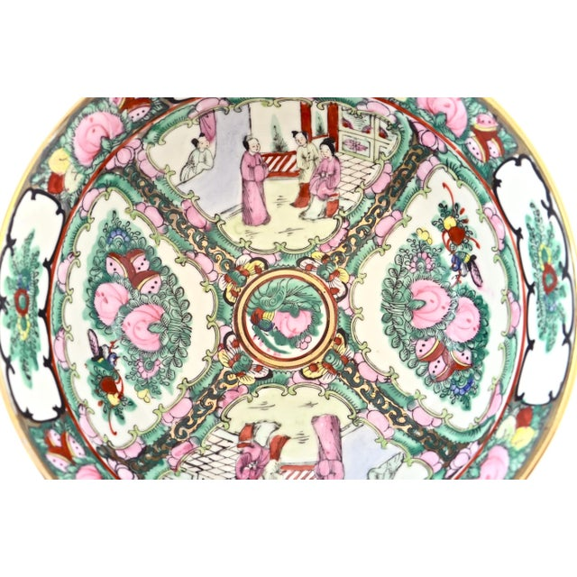 Pink Famille Rose Bowl & Stand For Sale - Image 4 of 9
