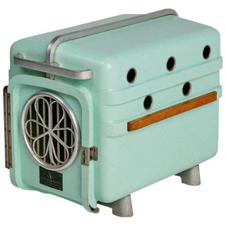Shamrock Crates Pet Carrier in Mint Green, Circa 1960 For Sale