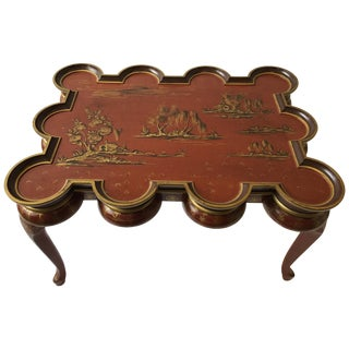 Italian Hand Painted Chinoiserie Coffee Table For Sale