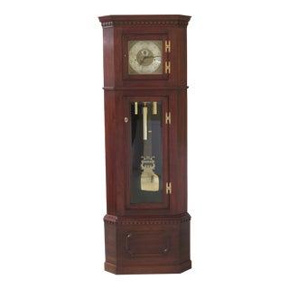 Sovereign Hancock Cherry Corner Grandfather Clock For Sale