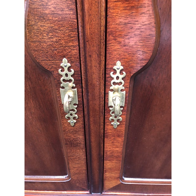 Thomasville Mahogany Collection Flip Top Server For Sale - Image 10 of 13
