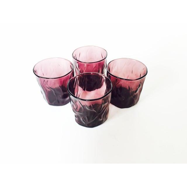 Vintage Purple Amethyst Glasses - Set of 4 - Image 3 of 4