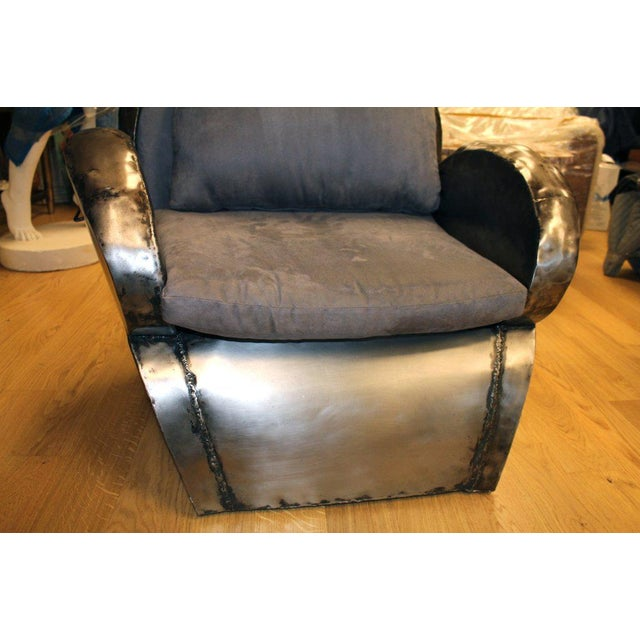 Hand Welded Unusual Steel Chair For Sale In Palm Springs - Image 6 of 8