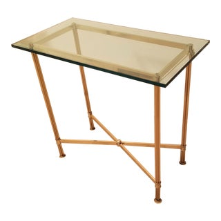 Brass Console Table For Sale