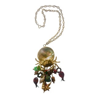 Sea Life Charms Pendant Necklace For Sale