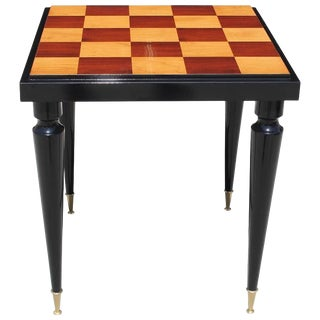 "French Art Deco ""Checkerboard"" Game Table or Center Table Circa 1940s. For Sale"