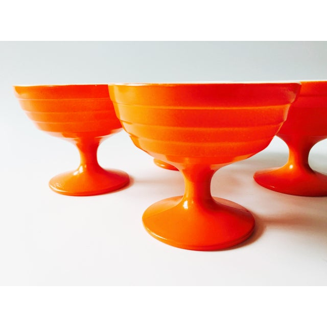 Vintage Orange Coupe Cocktail Glasses- Set of 4 - Image 3 of 5