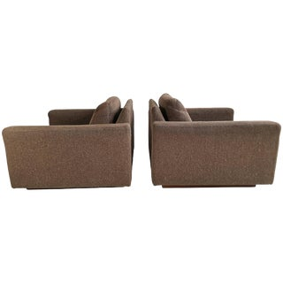 Milo Baughman for Thayer Coggin Cube Lounge Chairs - a Pair For Sale