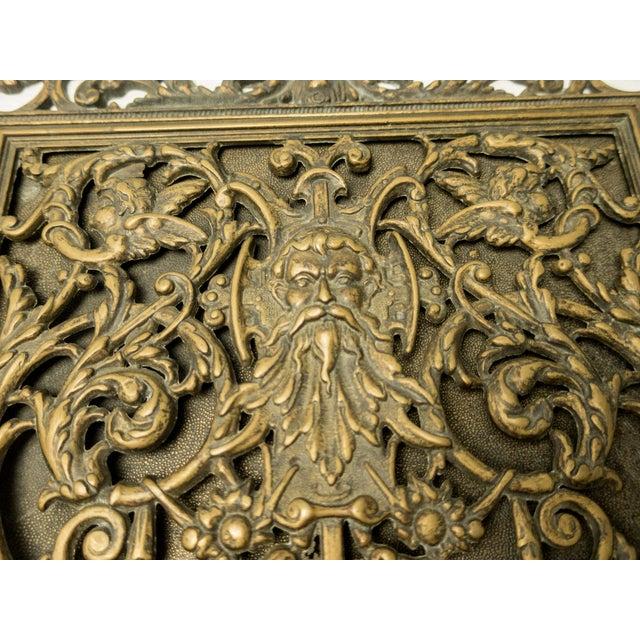 Italian Art Nouveau Bronze Letter Holder For Sale - Image 4 of 7