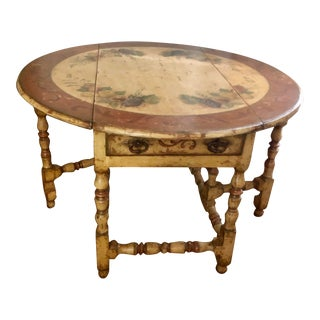 French Country Painted Gateleg Table For Sale