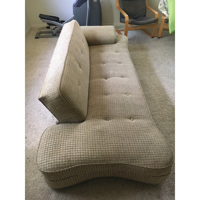 Fabric 1950's Mid-Century Convertible Dog Bone Sofa-Final Markdown For Sale - Image 7 of 9