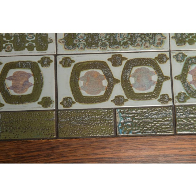 Green Rosewood and Green Tile Coffee Table For Sale - Image 8 of 10