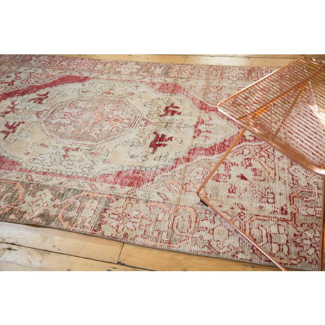 """Old New House Vintage Distressed Oushak Rug - 4'8"""" X 7'8"""" For Sale - Image 4 of 10"""