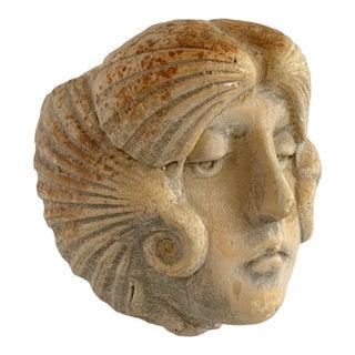 Vintage Sea Goddess Face Head Planter Signed Hayes Parker Planter For Sale