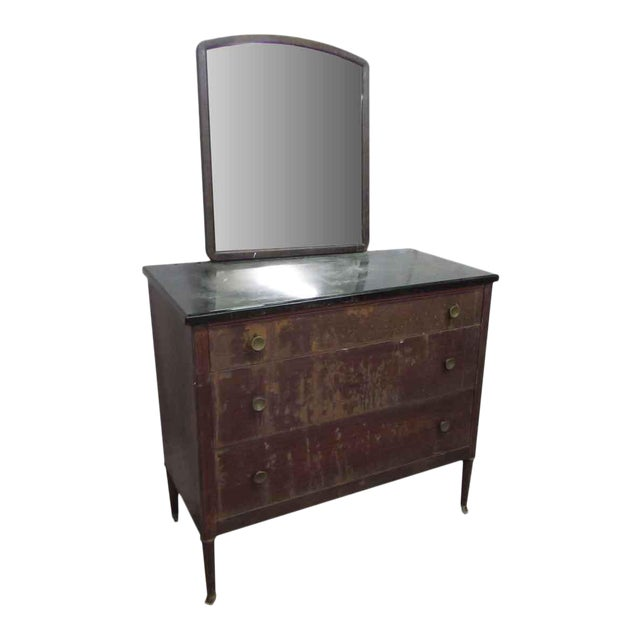 Metal Dresser With Mirror For Sale