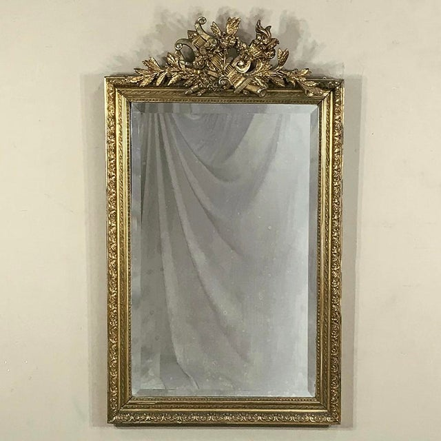 19th Century French Louis XVI Gilded Mirror For Sale - Image 4 of 12