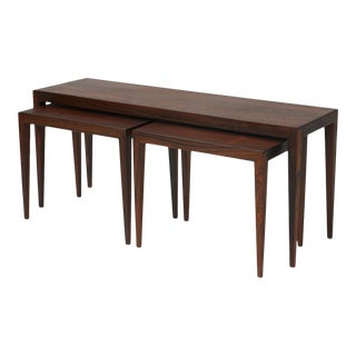 Severin Hansen Jr Nesting and Coffee Tables for Haslev - set of 3