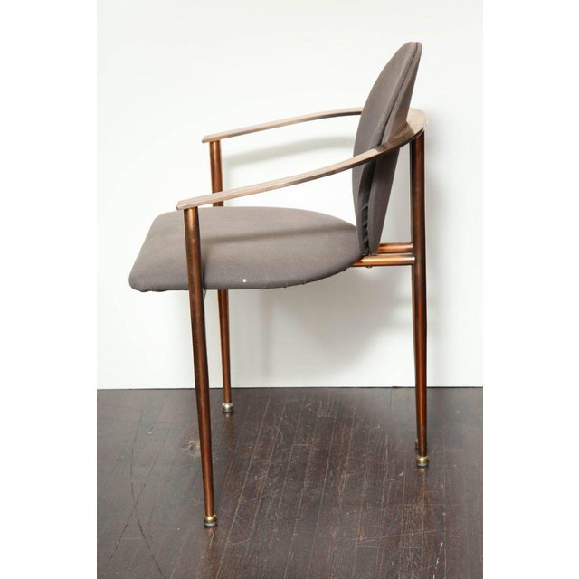 Mid-Century Modern Set of Four Rose Gold-Plated Metal Chairs, 1970s For Sale - Image 3 of 8