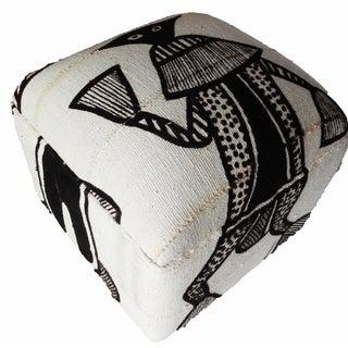 Malian Mud Cloth Ottoman For Sale
