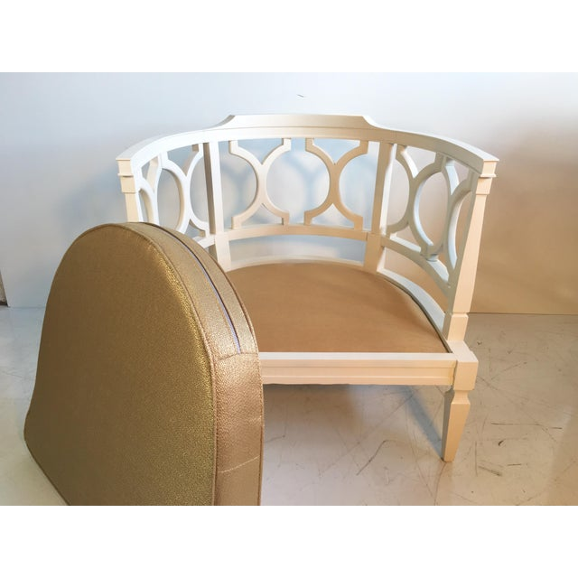 Hollywood Regency Occasional Boudoir Chair - Image 6 of 6